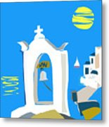 Hellenic Holiday Metal Print