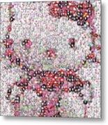 Hello Kitty Button Mosaic Metal Print