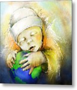 Hello World Metal Print