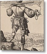 Helmeted Musketeer Metal Print