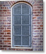 Helsingor Grilled Window Metal Print