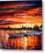 Helsinki - Sailboats At Yacht Club Metal Print