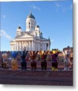 Helsinki Cathedral Metal Print