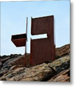 Helsinki Rock Church Cross Metal Print