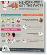 Hemorrhoids Get The Facts Metal Print