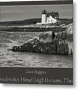 Hendricks Head Lighthouse, Maine Metal Print