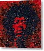 Hendrix Metal Print