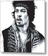 Hendrix No.02 Metal Print by Caio Caldas