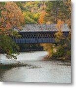 Henniker Covered Bridge Metal Print