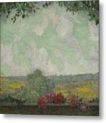 Henri Le Sidaner 1862 - 1939 View From The Terrace Metal Print