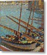 Henri Martin 1860 - 1943 Boats To Collioure Metal Print