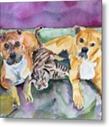 Henry And Sam And Jack Metal Print