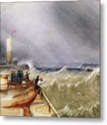 Henry Barlow Carter 1795-1867 Loss Of The Scarborough Lifeboat 24 May 1836 Metal Print