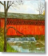 Henry Bridge Vt. Metal Print