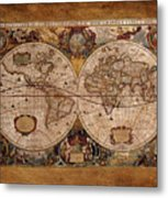 Henry Hondius Seventeenth Century World Map Metal Print by Skye Ryan-Evans