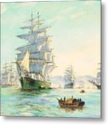 Tranquil Morning - Foochow, The Famous Clipper Thermopylae At Anchor Metal Print
