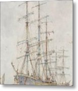 Henry Scott Tuke Windjammers At Anchor, 1921 Metal Print
