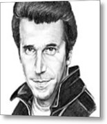 Henry Winkler The Fonz Metal Print