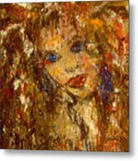 Her Blue Eyes Metal Print