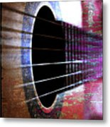 Her Old Guitar Metal Print