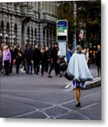 Her With The Cape Metal Print