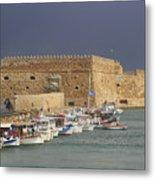 Heraklion Castle Crete Greece Metal Print