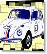 Herbie The Love Bug Metal Print