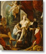 Hercules And Omphale Metal Print