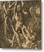Hercules Killing Cacus Metal Print