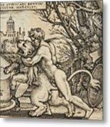 Hercules Killing The Nemean Lion Metal Print