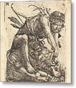 Hercules Overcoming The Nemean Lion Metal Print