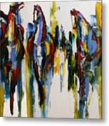 Herd Of Carousel Ponies Metal Print