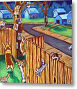 Herding Cats - Pembroke Welsh Corgi Metal Print by Lyn Cook