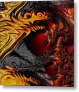 Here Be Dragons Metal Print