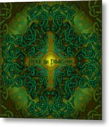Here Be Dragons Metal Print