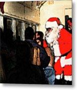 Here Come Santa Metal Print