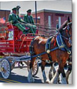 Here Comes The King-budweiser Clydesdales Metal Print