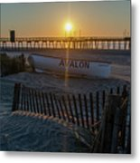 Here Comes The Sun - Avalon New Jersey Metal Print