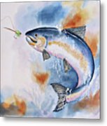 Here Fishy, Fishy Metal Print