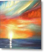 Here It Goes - Colorful Sunset Metal Print