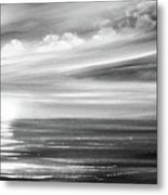 Here It Goes In Black And White Metal Print