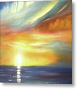 Here It Goes - Vertical Colorful Sunset Metal Print