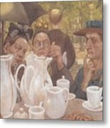 Here The Family Can Make Coffee Metal Print