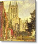 Hereford Cathedral Metal Print by John William Buxton Knight
