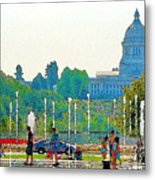 Heritage Park Fountain Metal Print