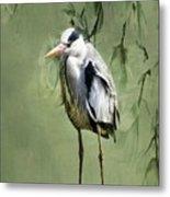 Heron Egret Bird Metal Print