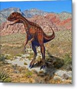 Herrarsaurus In Desert Metal Print