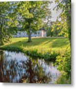 Herrevads Kloster By The Riverside Metal Print
