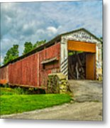 Herr's Mill Bridge - Pa Metal Print