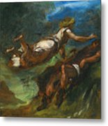Hesiod And The Muse Metal Print